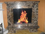 FIREPLACE / Marble,  Emperador Gold